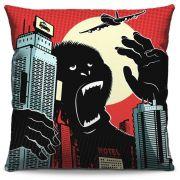 Capa de Almofada Estampada Colorida Pop King Kong 129