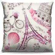 Capa de Almofada Estampada Colorida Pop Paris 31