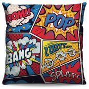 Capa de Almofada Estampada Colorida Pop Quadrinhos 88
