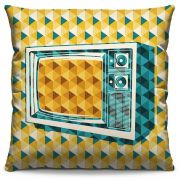 Capa de Almofada Estampada Colorida Pop TV 20