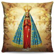 Capa de Almofada Estampada Colorida Religiosa Nossa Senhora Aparecida 01