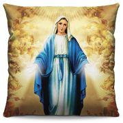 Capa de Almofada Estampada Colorida Religiosa Nossa Senhora das Graças