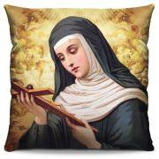 Capa de Almofada Estampada Colorida Religiosa Santa Rita de Cássia