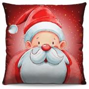 Capa de Almofada Estampada Decorativa 40x40 Natal Papai Noel em Desenho Vermelho