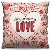 Capas de Almofada Estampada Colorida Pop All You Need is Love 333