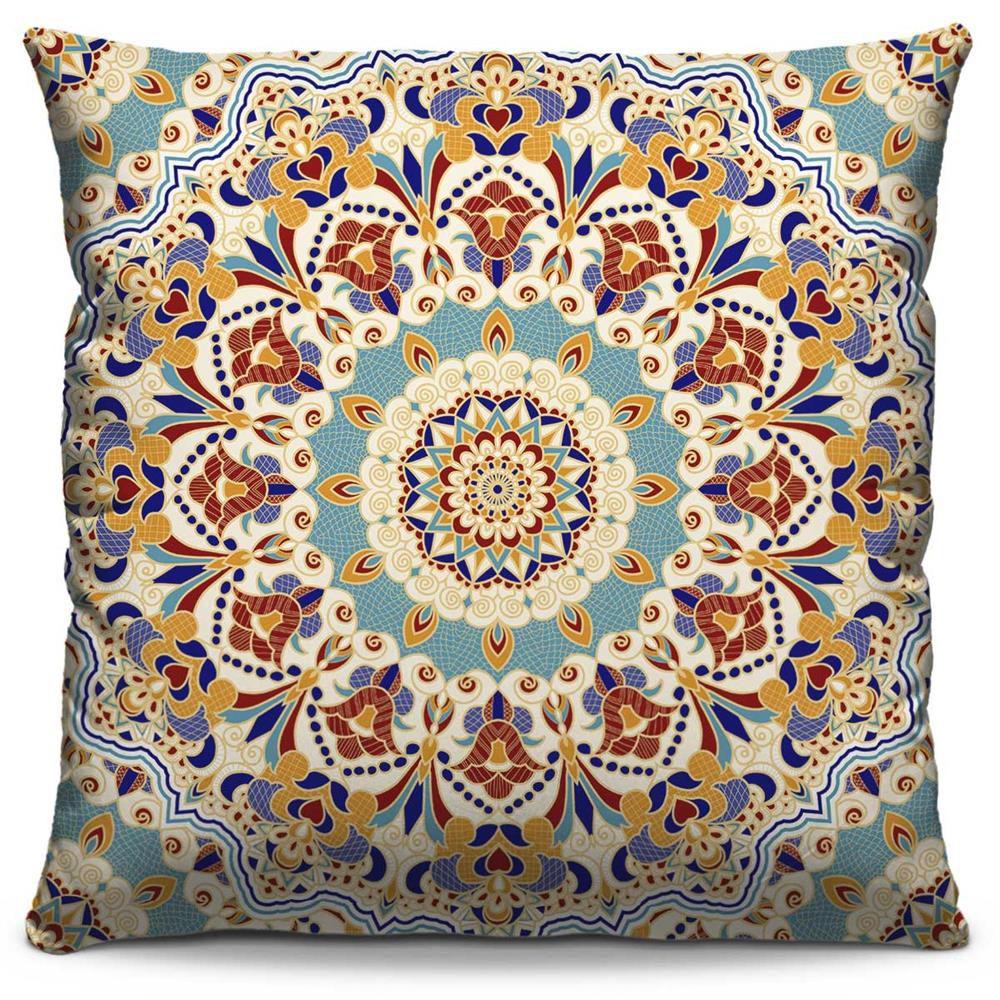 Almofada Estampada Colorida Classic Mandalas 111