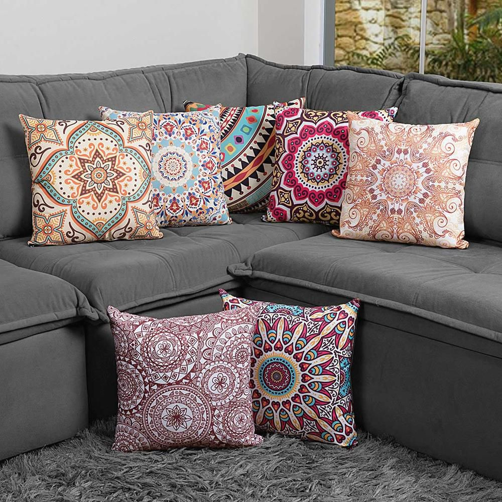 Almofada Estampada Colorida Classic Mandalas 116