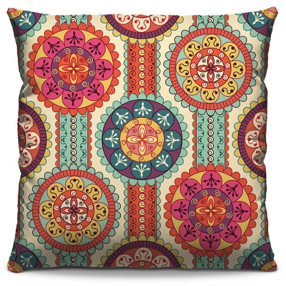 Almofada Estampada Colorida Classic Mandalas 11
