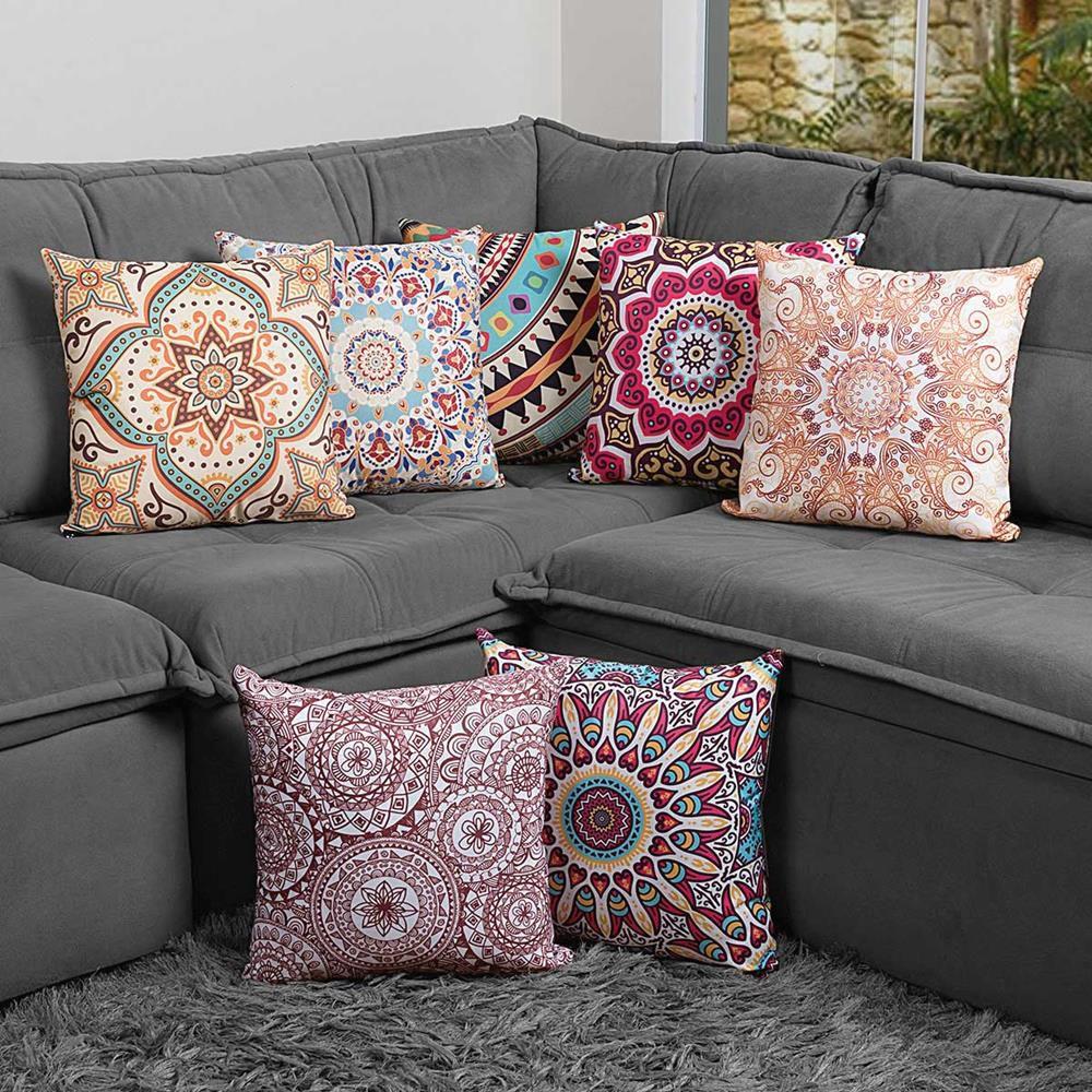 Almofada Estampada Colorida Classic Mandalas 153