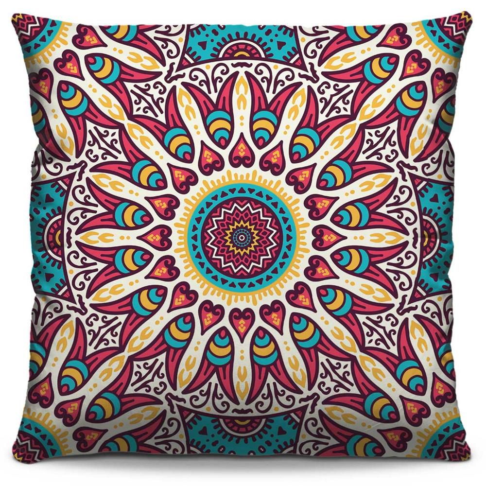 Almofada Estampada Colorida Classic Mandalas 156