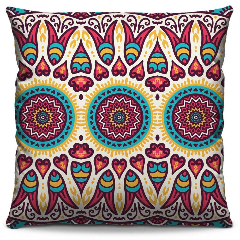 Almofada Estampada Colorida Classic Mandalas 158