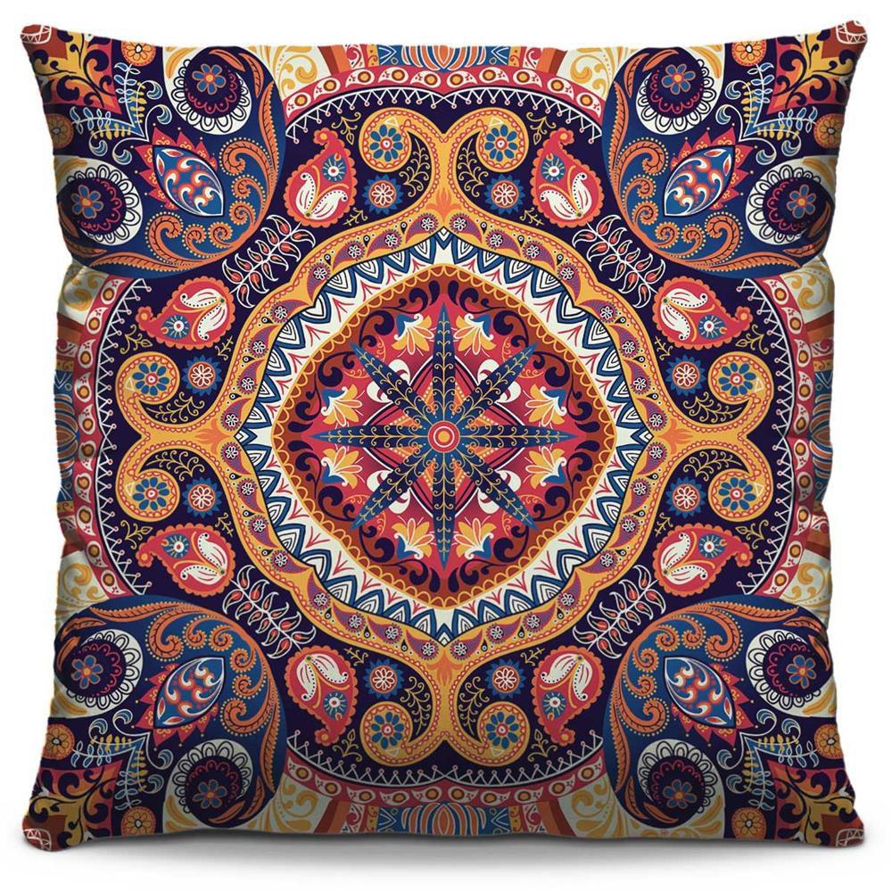 Almofada Estampada Colorida Classic Mandalas 22