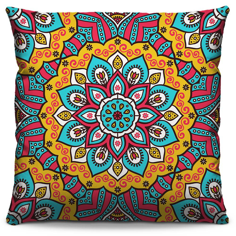 Almofada Estampada Colorida Classic Mandalas 338