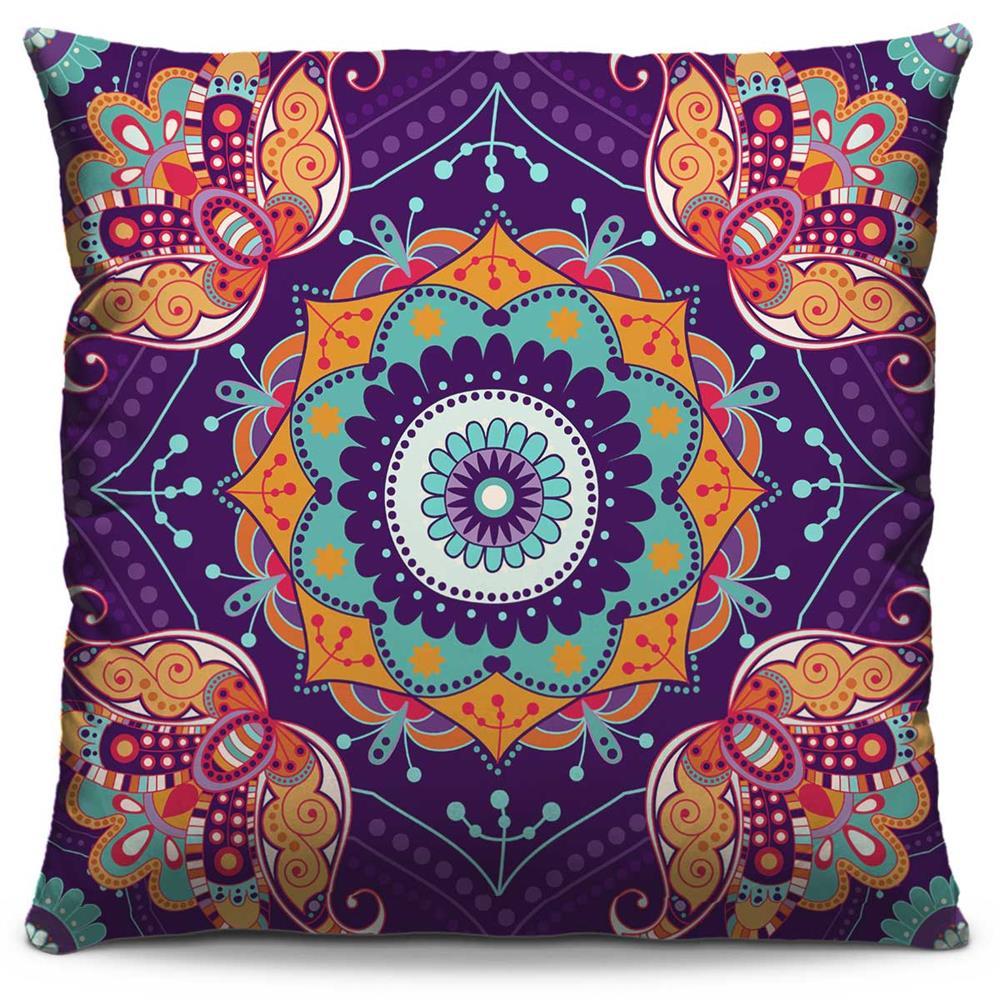 Almofada Estampada Colorida Classic Mandalas 35
