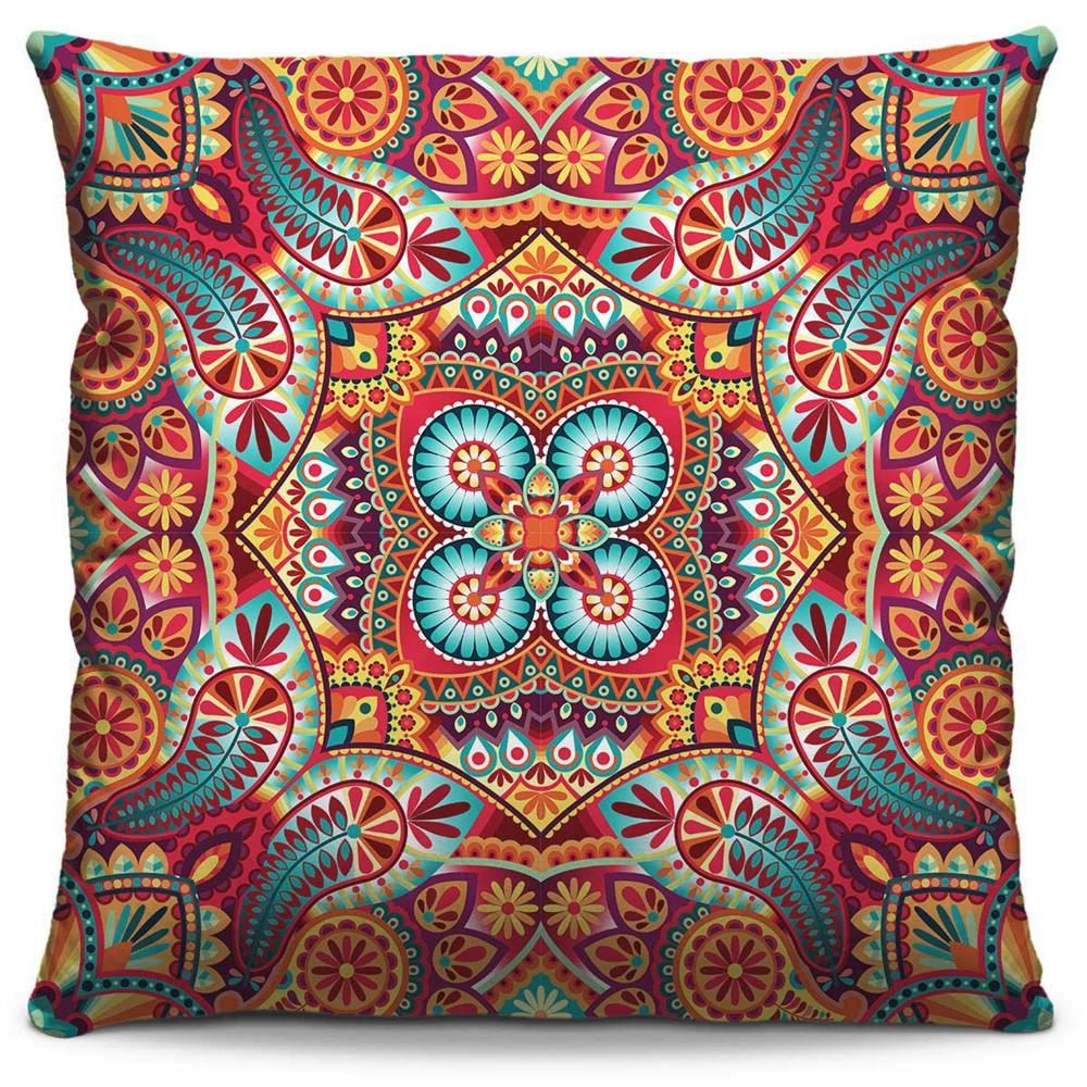 Almofada Estampada Colorida Classic Mandalas 37