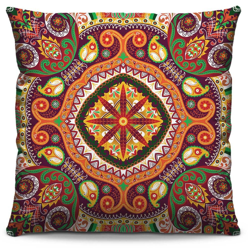 Almofada Estampada Colorida Classic Mandalas 43