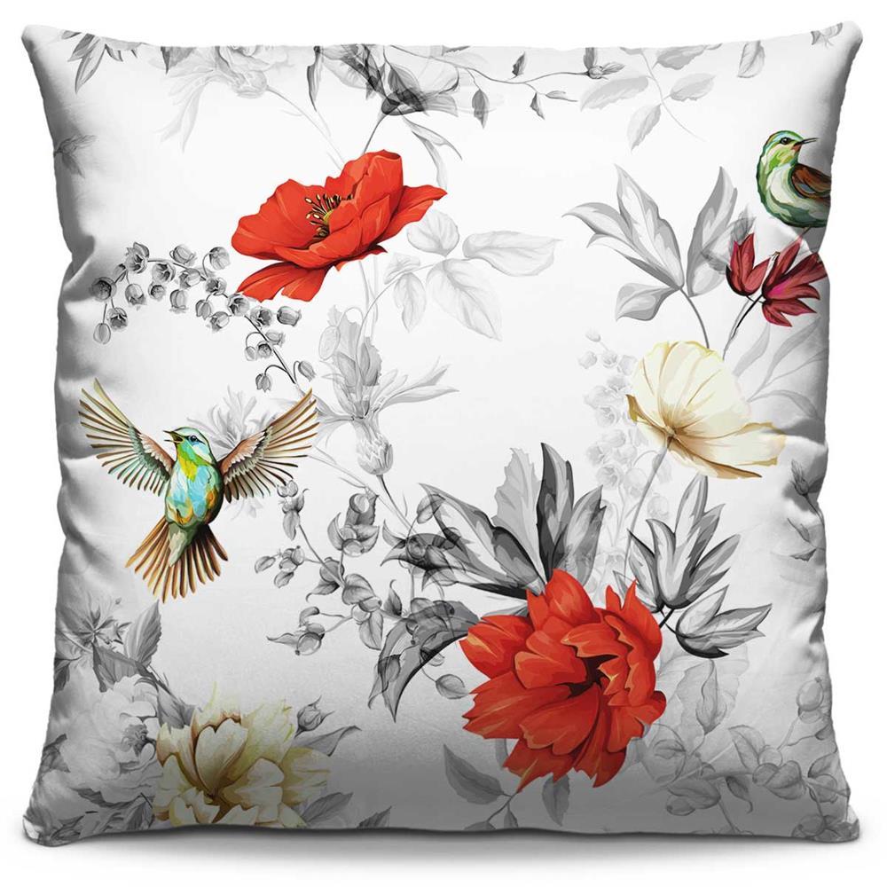 Almofada Estampada Colorida Florata Beija-flor 102