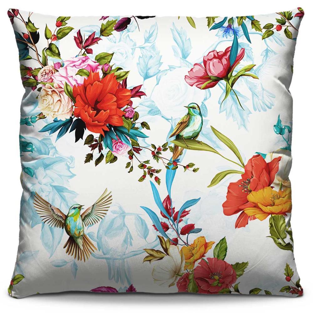 Almofada Estampada Colorida Florata Beija-flores 103