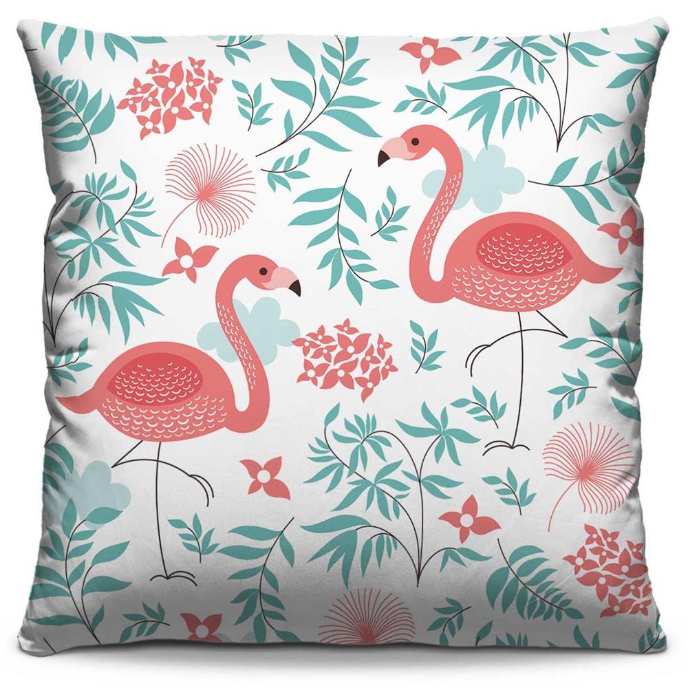 Almofada Estampada Colorida Florata Flamingos 19