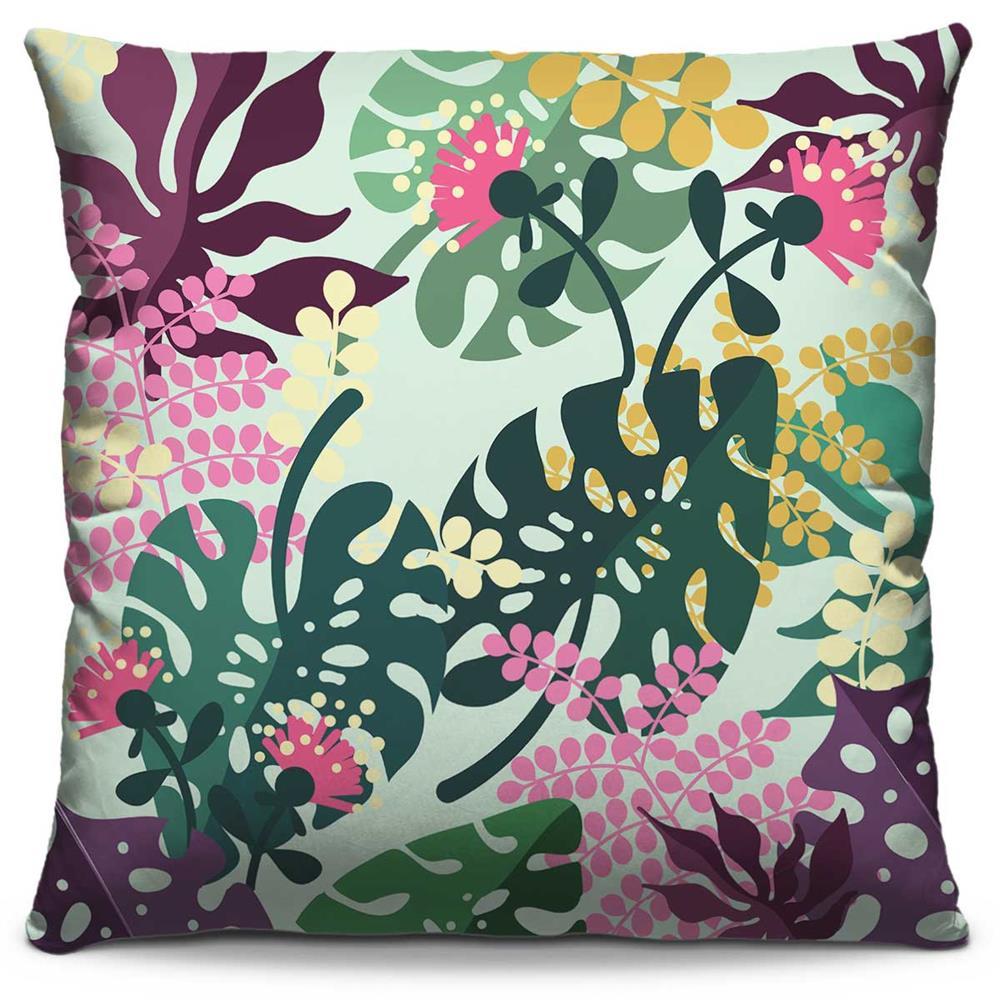 Almofada Estampada Colorida Florata Folhas 281