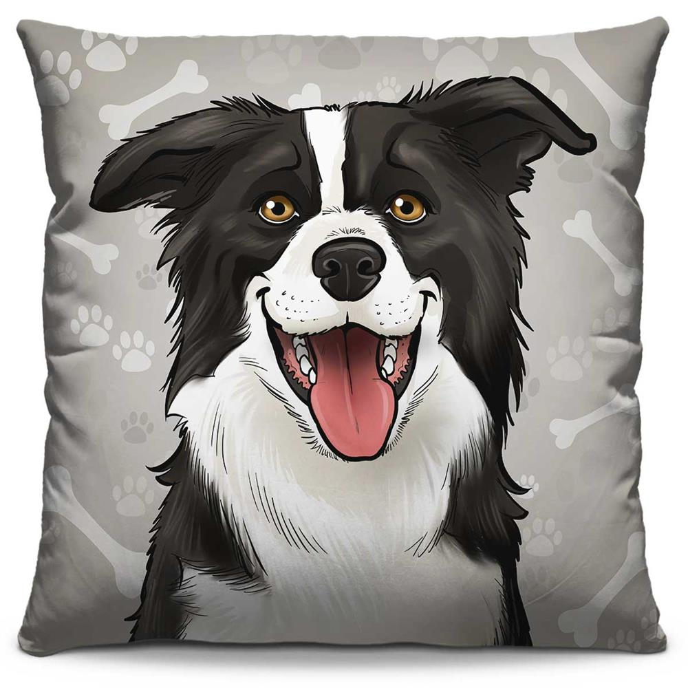Almofada Estampada Colorida Pets Border Collie 285