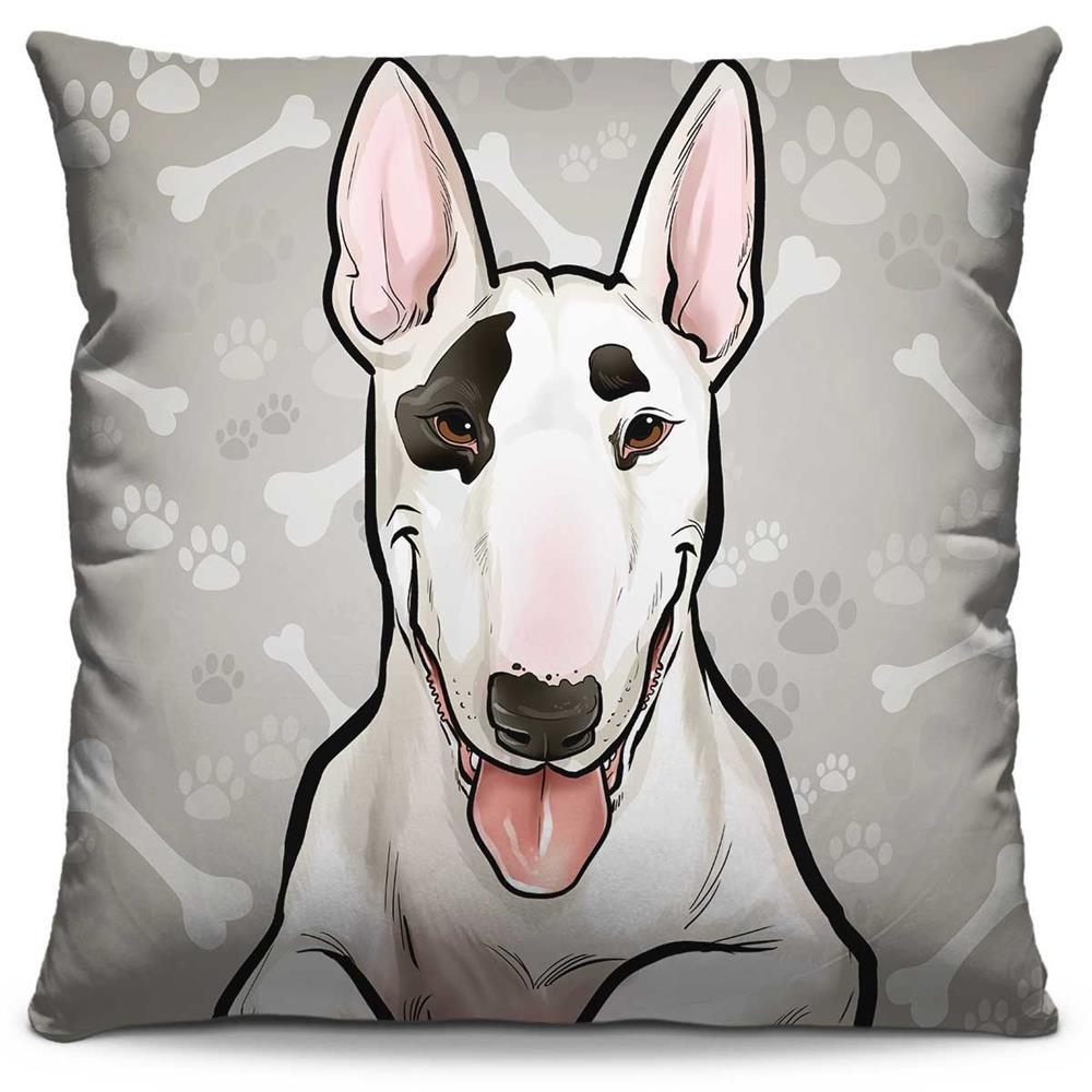 Almofada Estampada Colorida Pets Bull Terrier 290