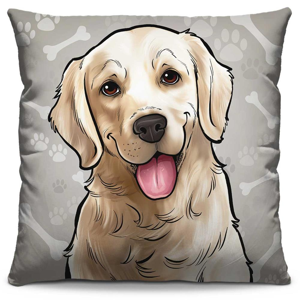Almofada Estampada Colorida Pets Golden Retriever 282