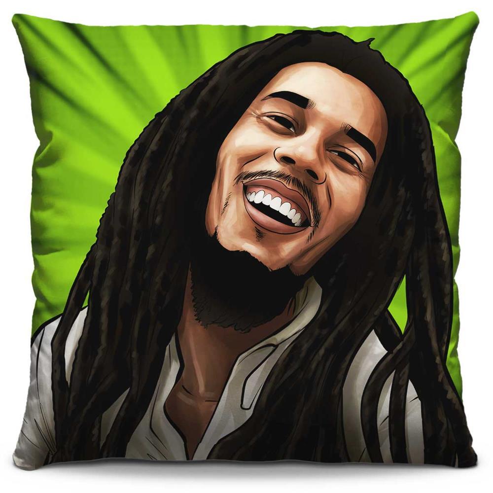 Almofada Estampada Colorida Pop Bob Marley 202