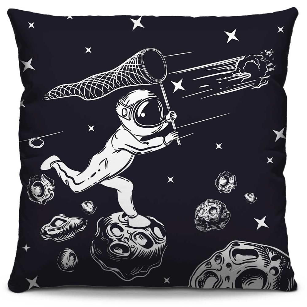 Almofada Estampada Colorida Pop Caçando Asteroides 134