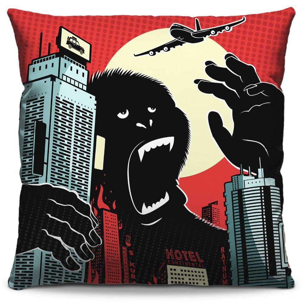 Almofada Estampada Colorida Pop King Kong 129