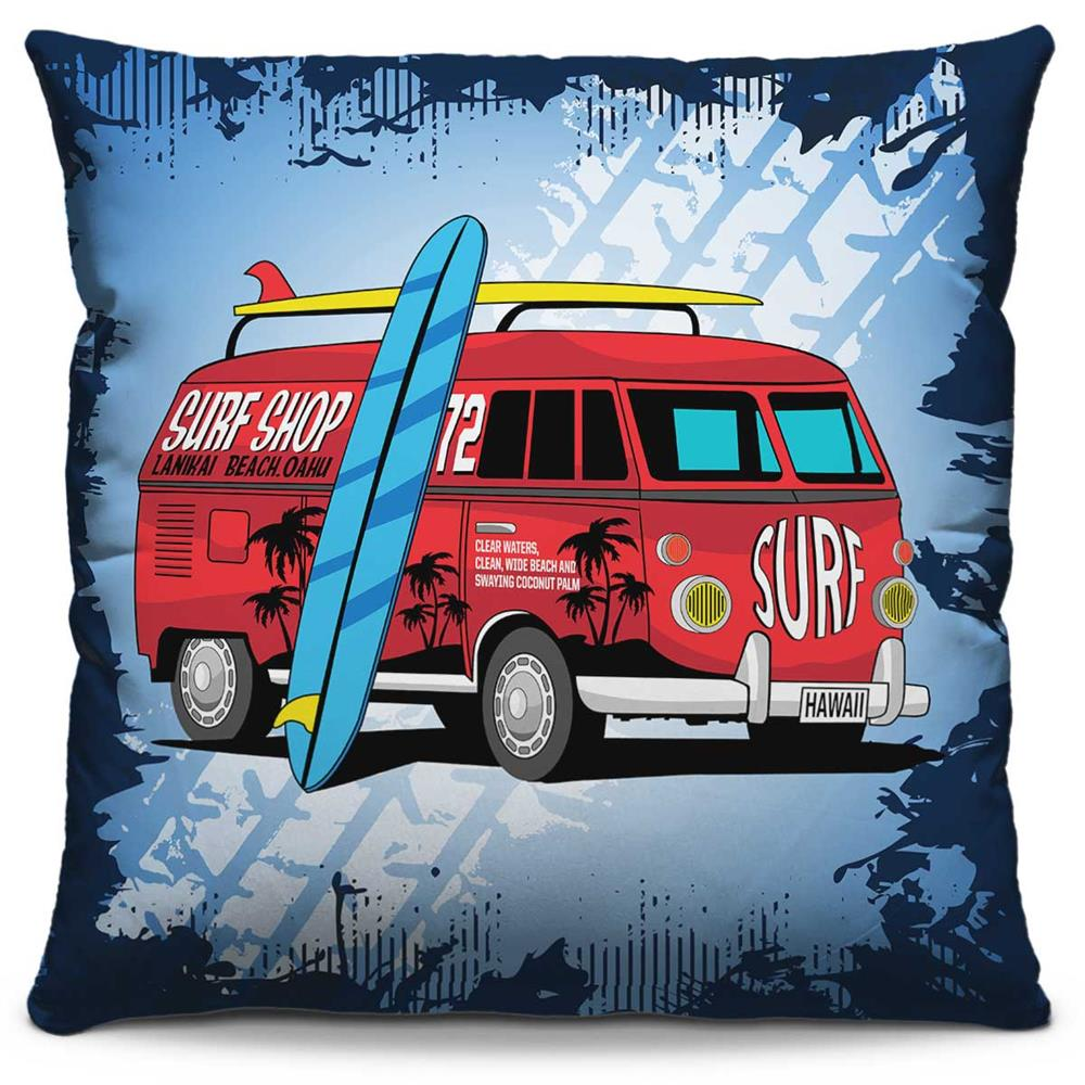 Almofada Estampada Colorida Pop Kombi Surf 173