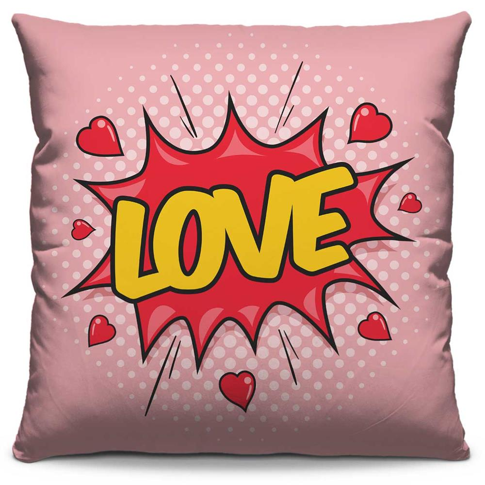 Almofada Estampada Colorida Pop Love 57
