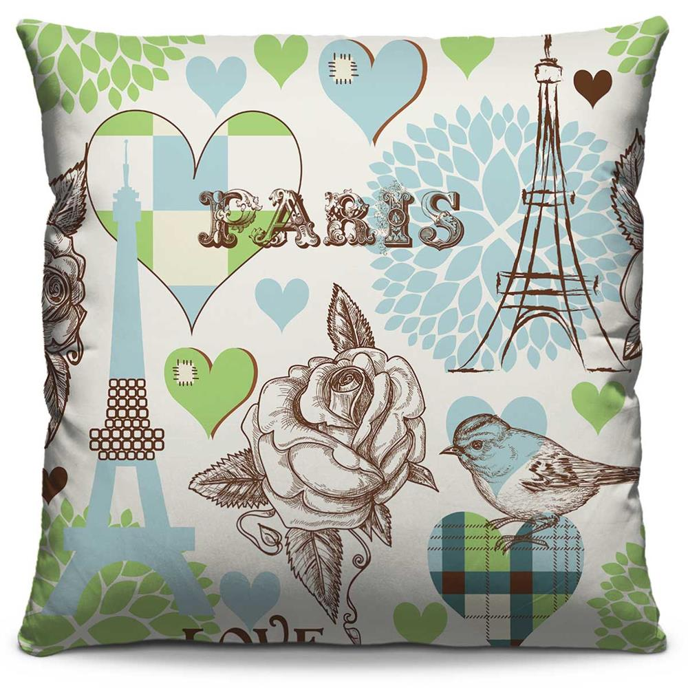 Almofada Estampada Colorida Pop Paris 07