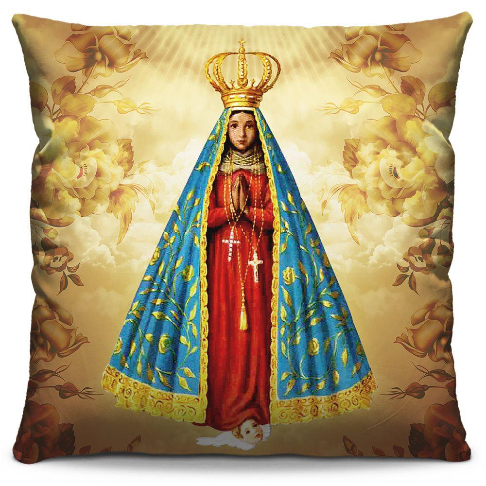 Almofada Estampada Colorida Religiosa Nossa Senhora Aparecida 01