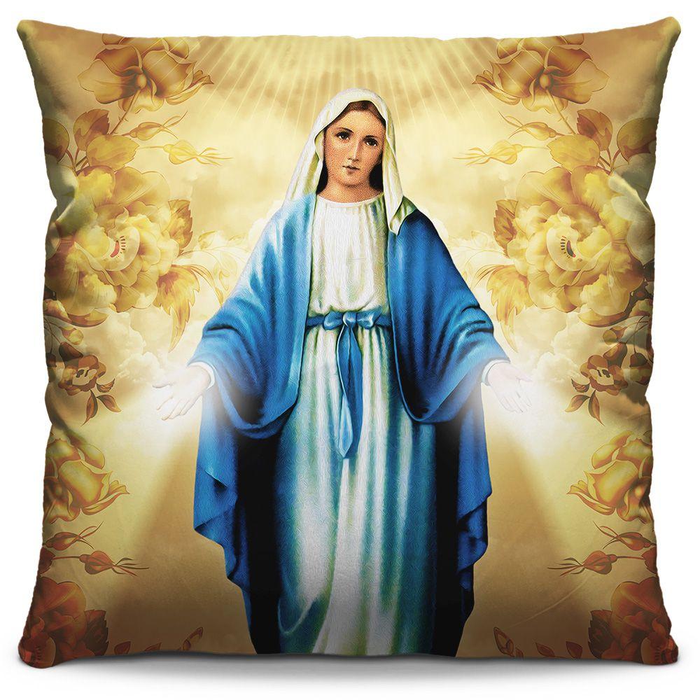 Almofada Estampada Colorida Religiosa Nossa Senhora das Graças