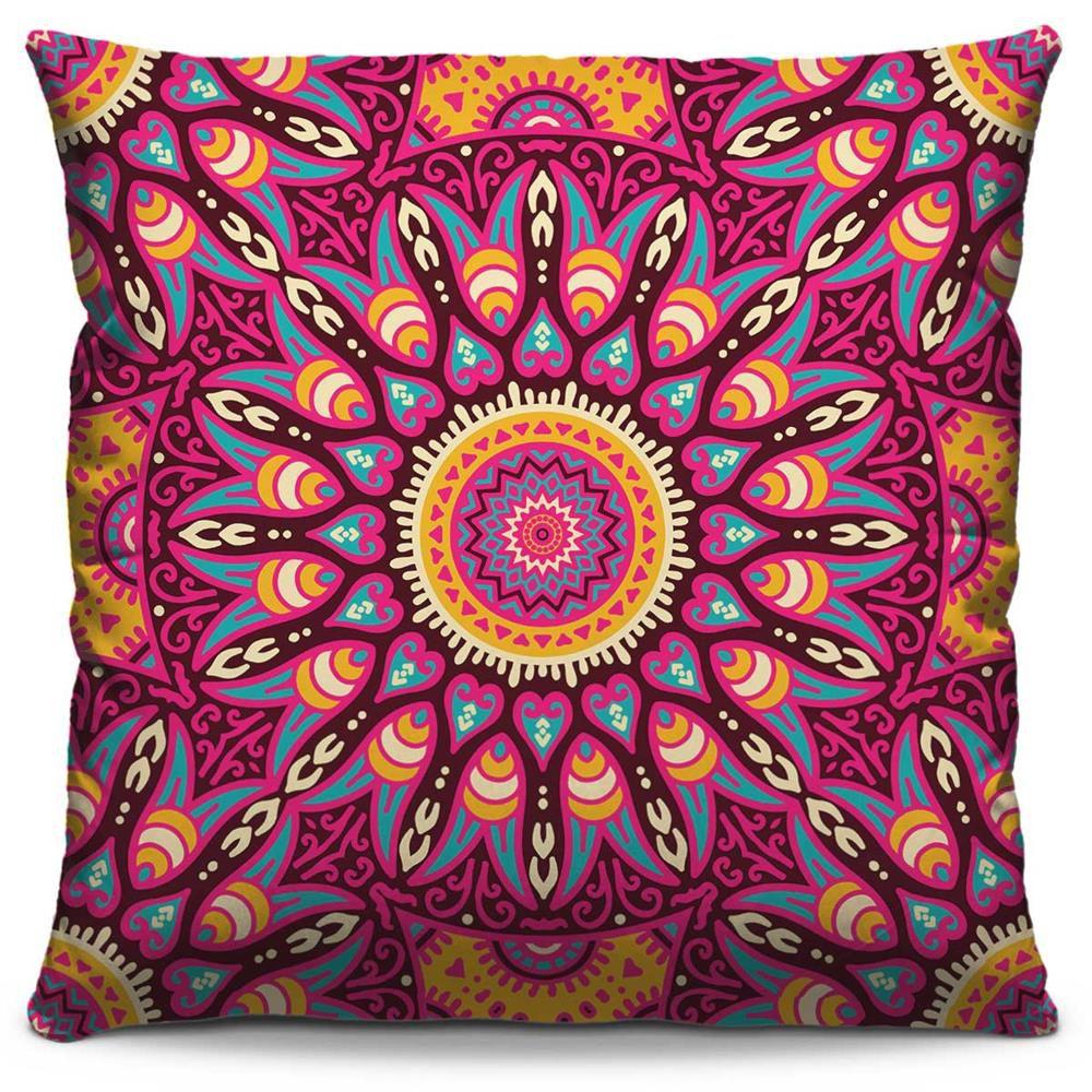 Capa de Almofada Estampada Colorida Classic Mandalas 157