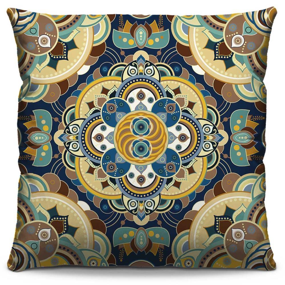 Capa de Almofada Estampada Colorida Classic Mandalas 257