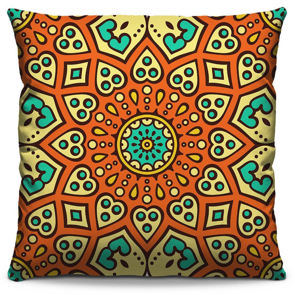 Capa de Almofada Estampada Colorida Classic Mandalas 306