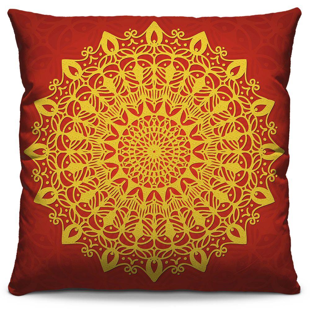 Capa de Almofada Estampada Colorida Classic Mandalas 317