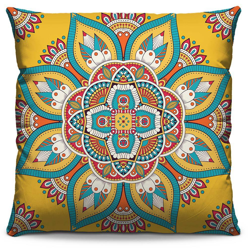 Capa de Almofada Estampada Colorida Classic Mandalas 319