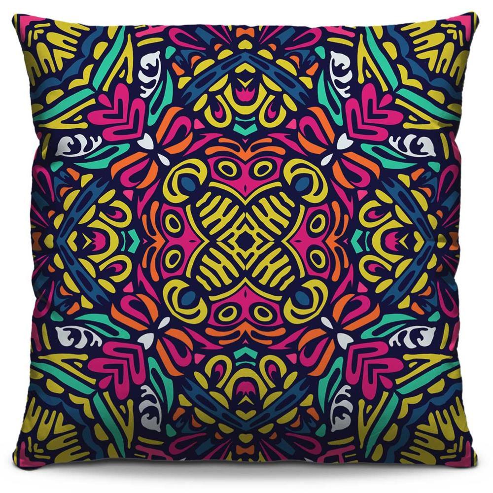 Capa de Almofada Estampada Colorida Classic Mandalas 48