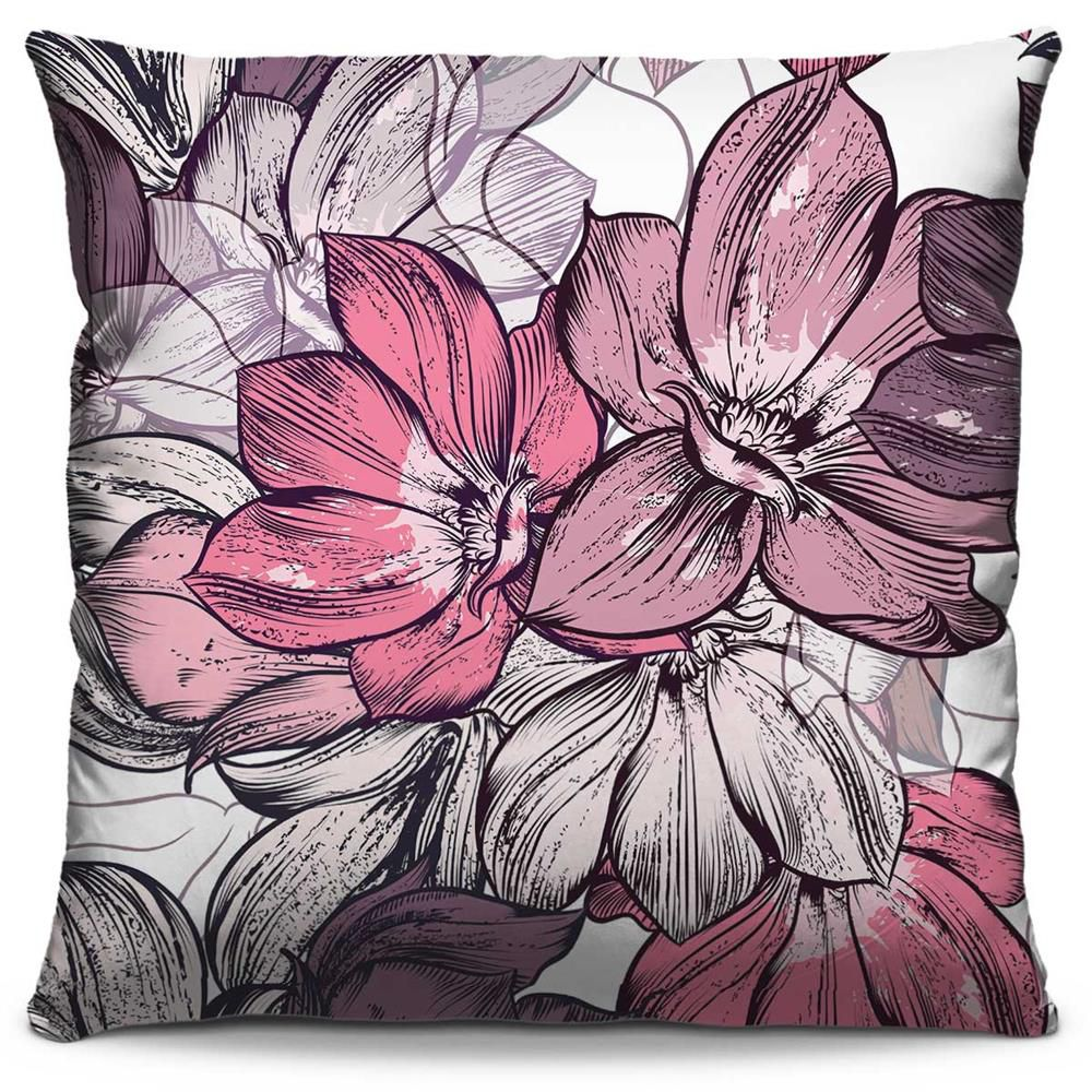 Capa de Almofada Estampada Colorida Florata Flores 100