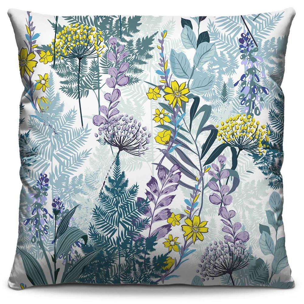 Capa de Almofada Estampada Colorida Florata Flores 136