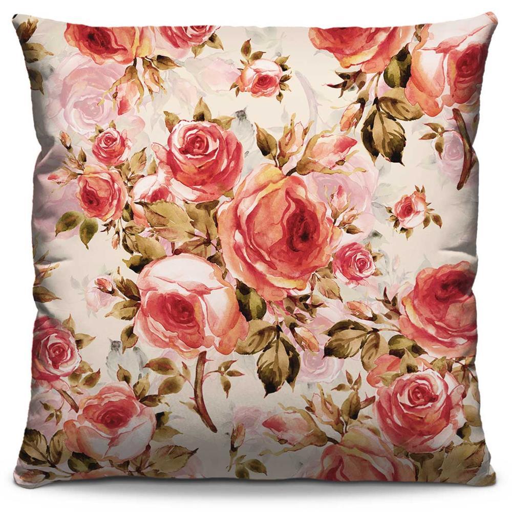 Capa de Almofada Estampada Colorida Florata Flores 259