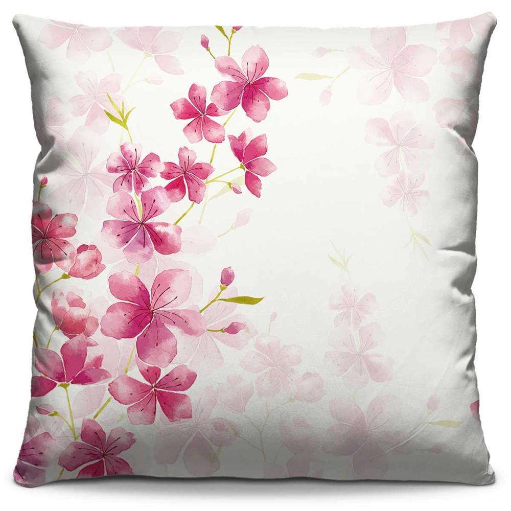Capa de Almofada Estampada Colorida Florata Flores 274
