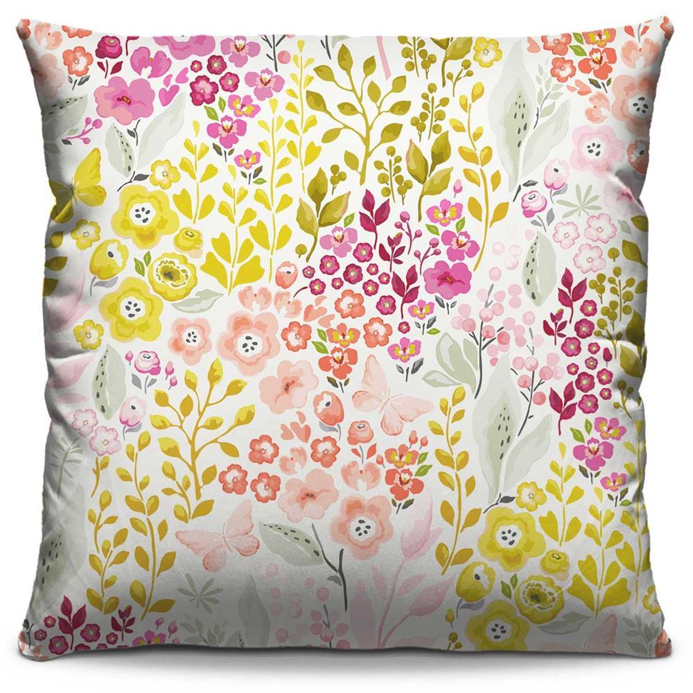 Capa de Almofada Estampada Colorida Florata Flores 86