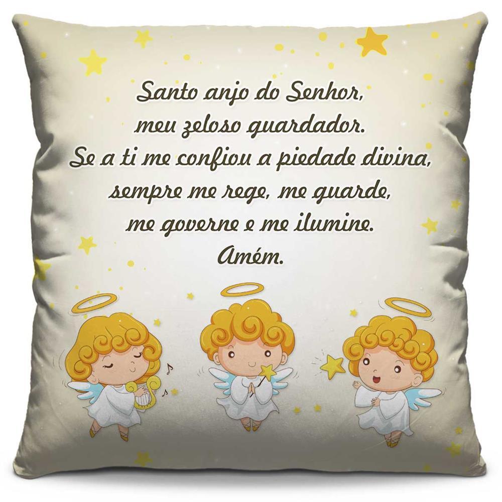 Capa de Almofada Estampada Colorida Kids Santo Anjo Palha 269