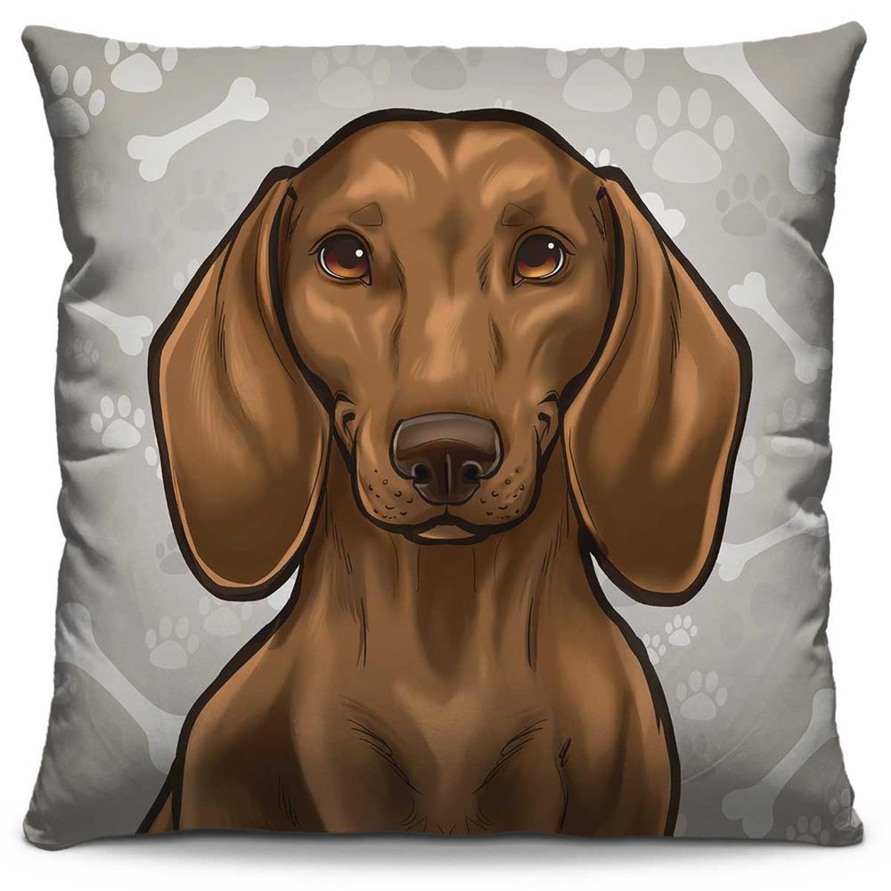 Capa de Almofada Estampada Colorida Pets Basset 284