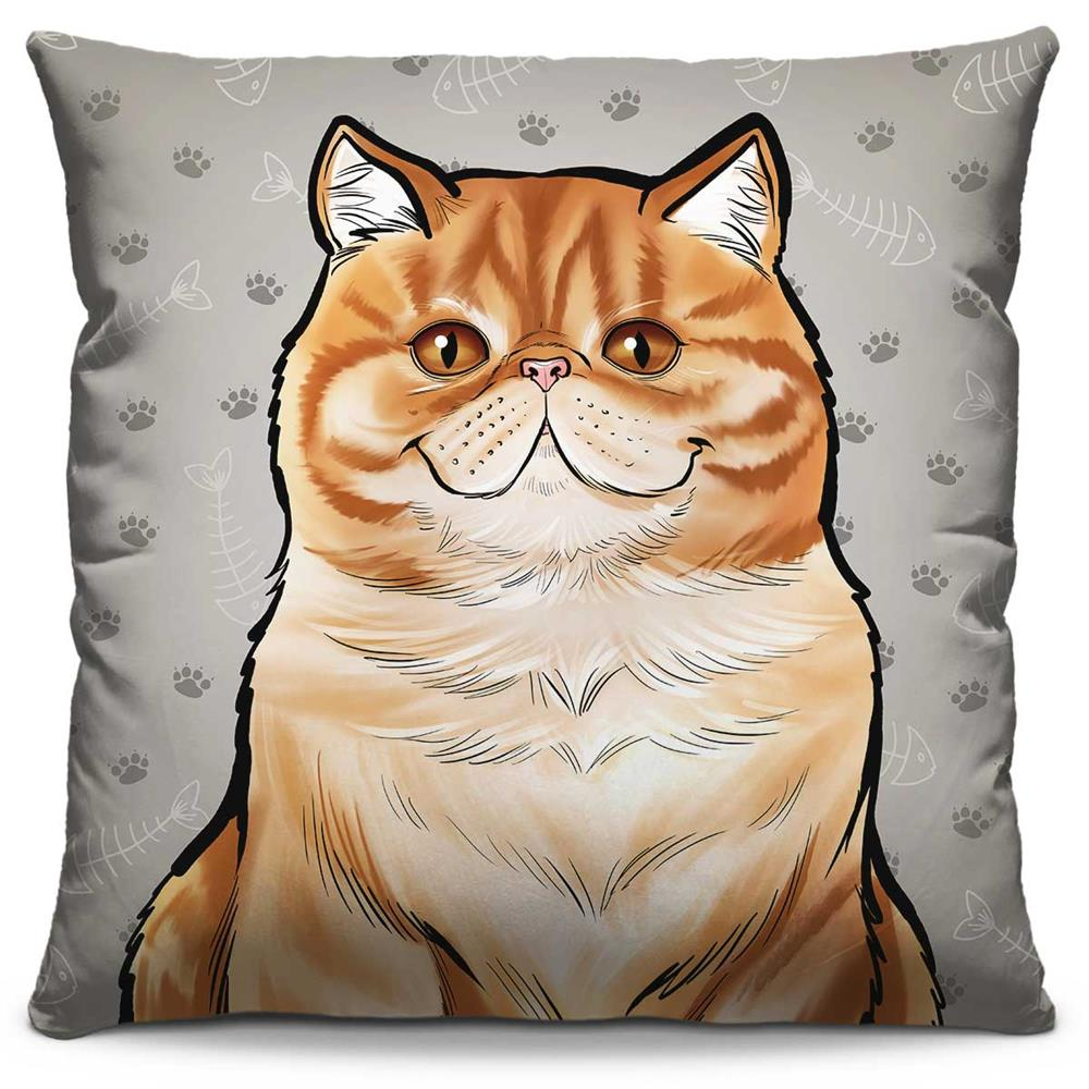 Capa de Almofada Estampada Colorida Pets Persa 303
