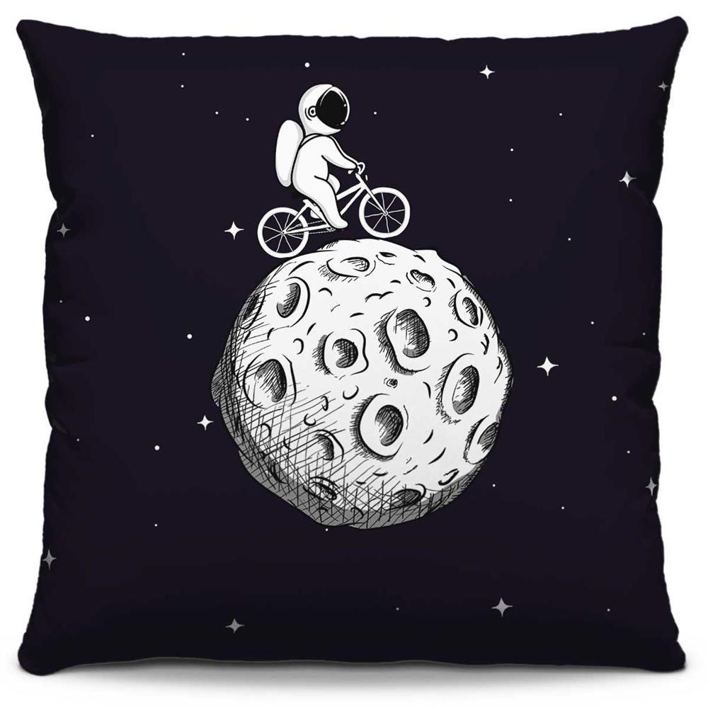 Capa de Almofada Estampada Colorida Pop Andando na Lua 123